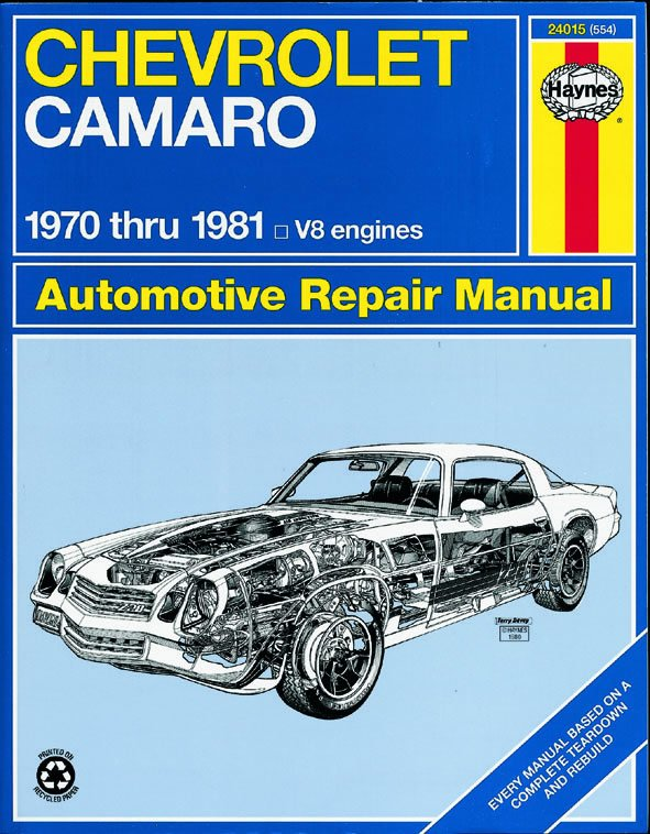 [Manuel US en Anglais] Chevrolet Camaro  '70 -  '81
