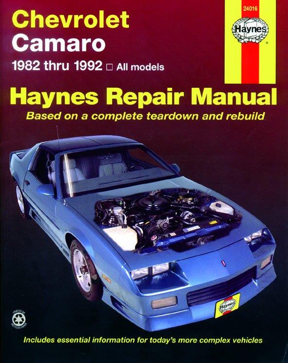 [Manuel US en Anglais] Chevrolet Camaro  '82 -  '92
