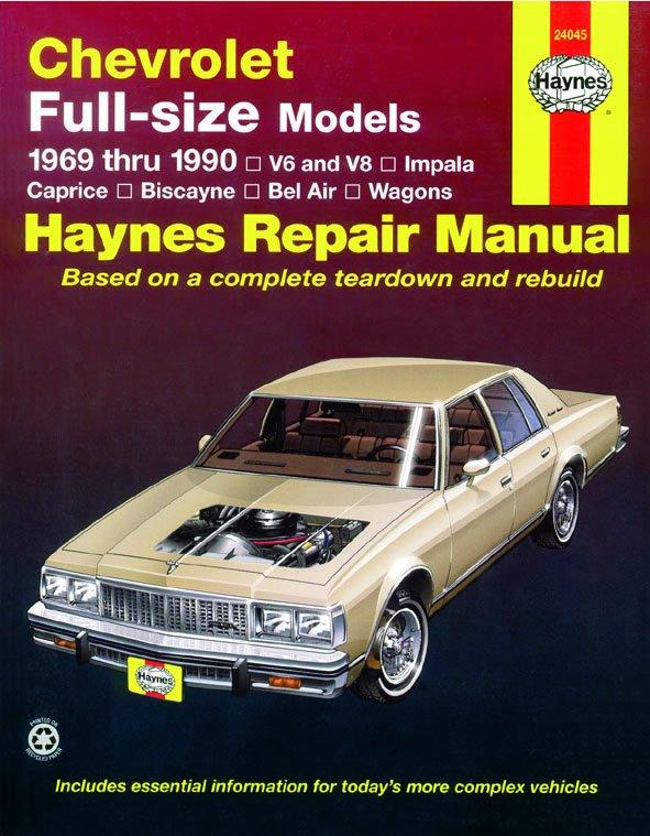 [Manuel US en Anglais] Chevrolet Full-size Sedans  '69 -  '90