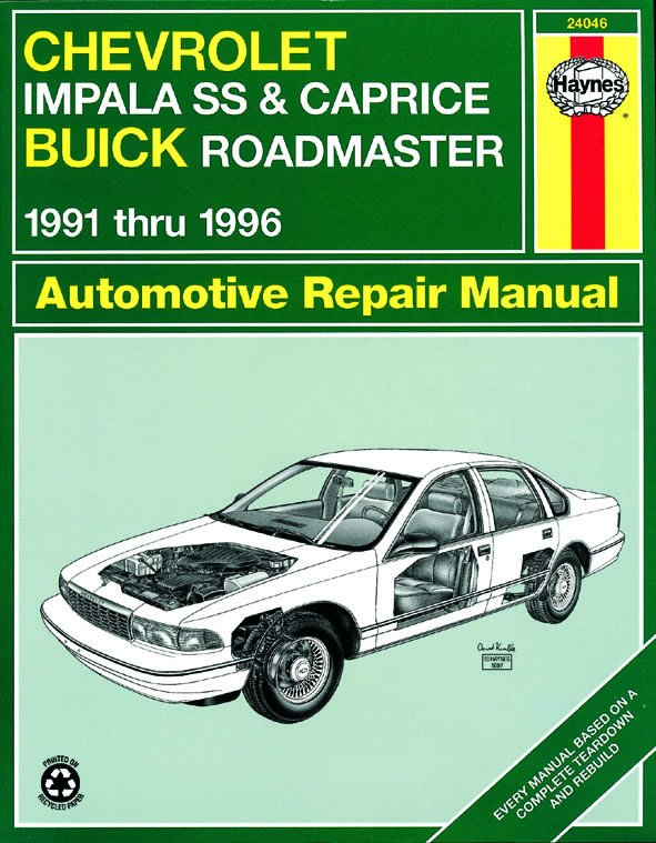 [Manuel US en Anglais] Chevrolet Impala SS, Caprice & Buick Roadmaster models with V8 engines 91 - 96
