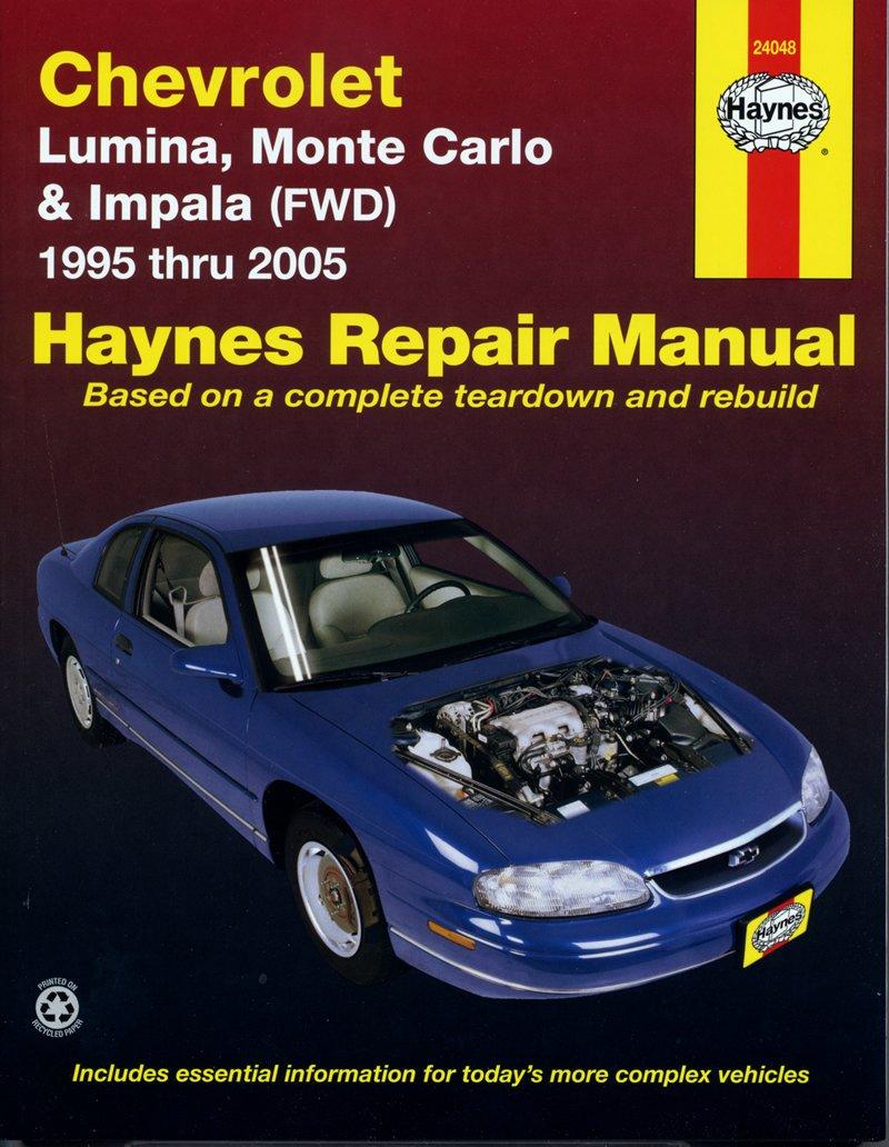 [Manuel US en Anglais] Chevrolet Lumina, Monte Carlo & Impala (FWD)  '95 -  '05
