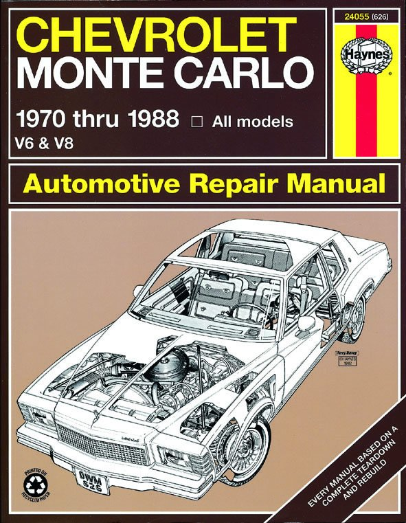 [Manuel US en Anglais] Chevrolet Monte Carlo  '70 -  '88