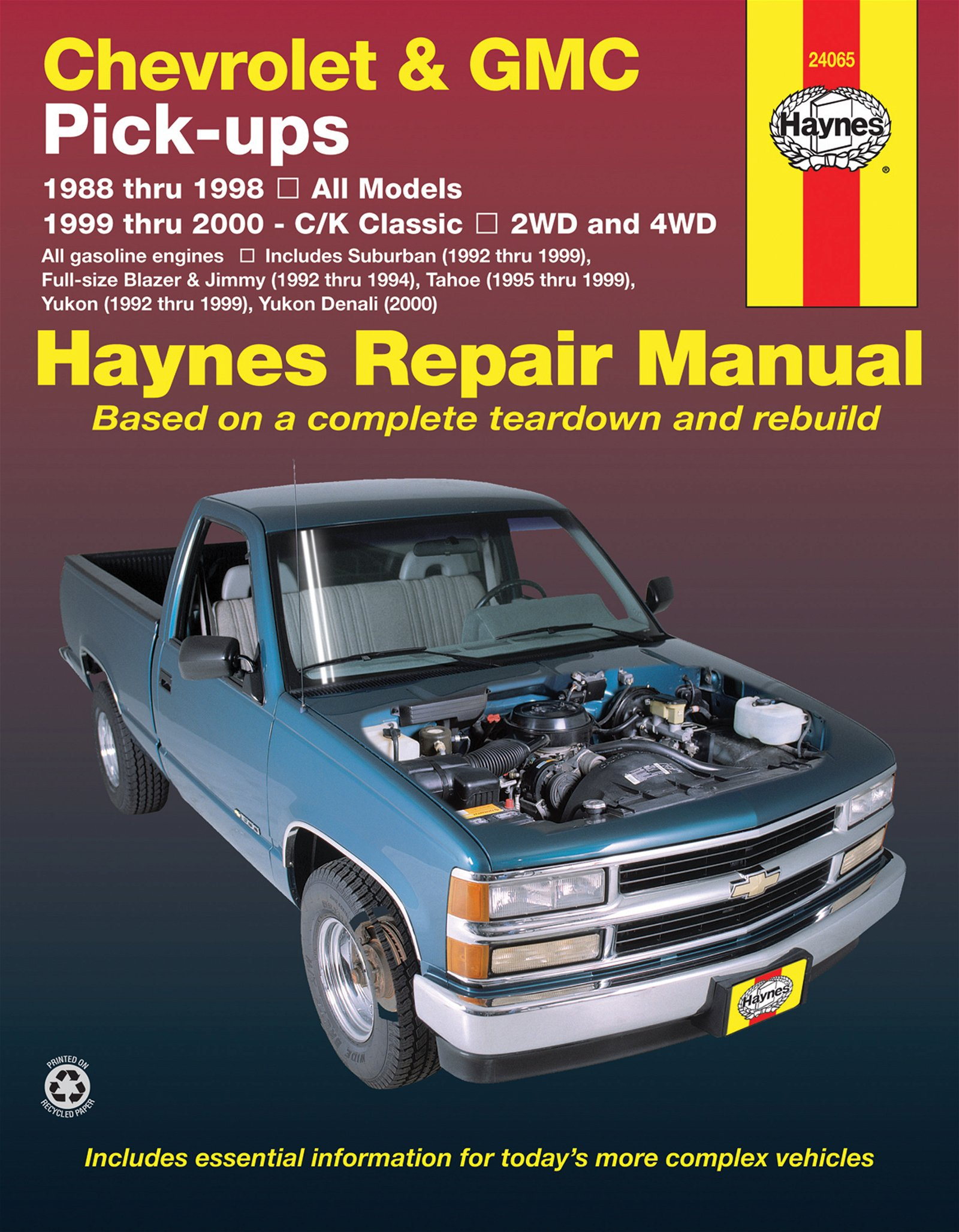 [Manuel US en Anglais] Chevrolet & GMC Pick-ups, 2WD  & 4WD  '88 -  '00