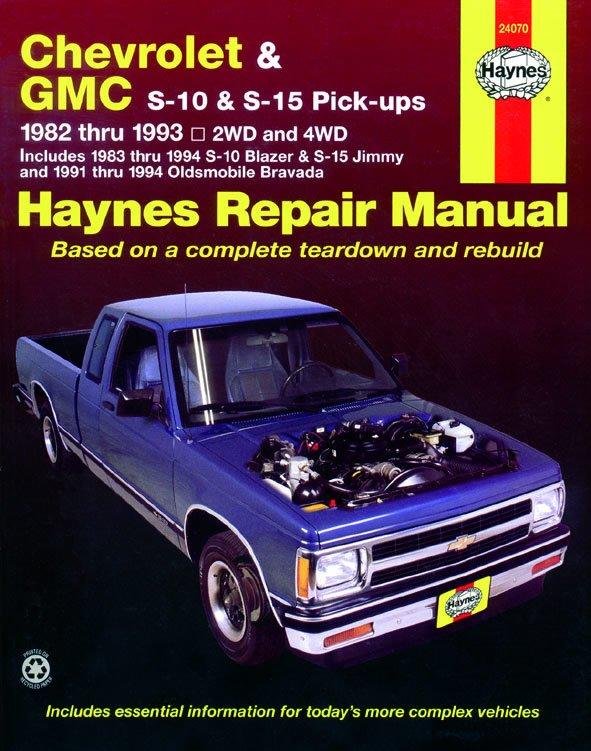 [Manuel US en Anglais] Chevrolet S-10 & GMC S-15 Pick-ups, & Oldsmobile Bravada  '82 -  '94