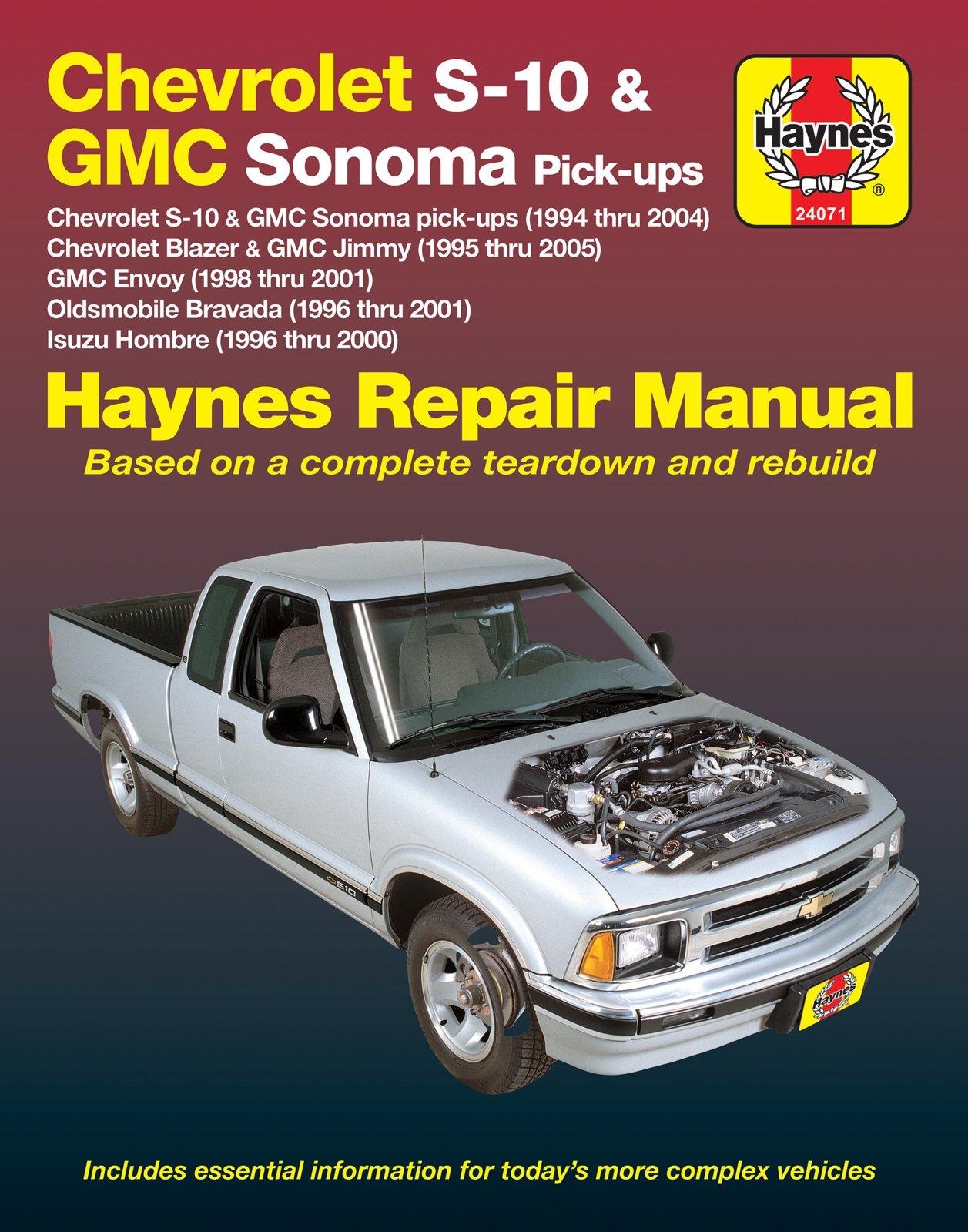 [Manuel US en Anglais] Chevrolet S-10 & GMC Somona Pick-ups  '94 -  '04
