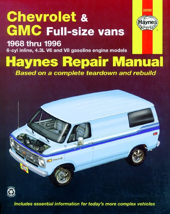 [Manuel US en Anglais] Chevrolet  Vans  ' 68 -  '96