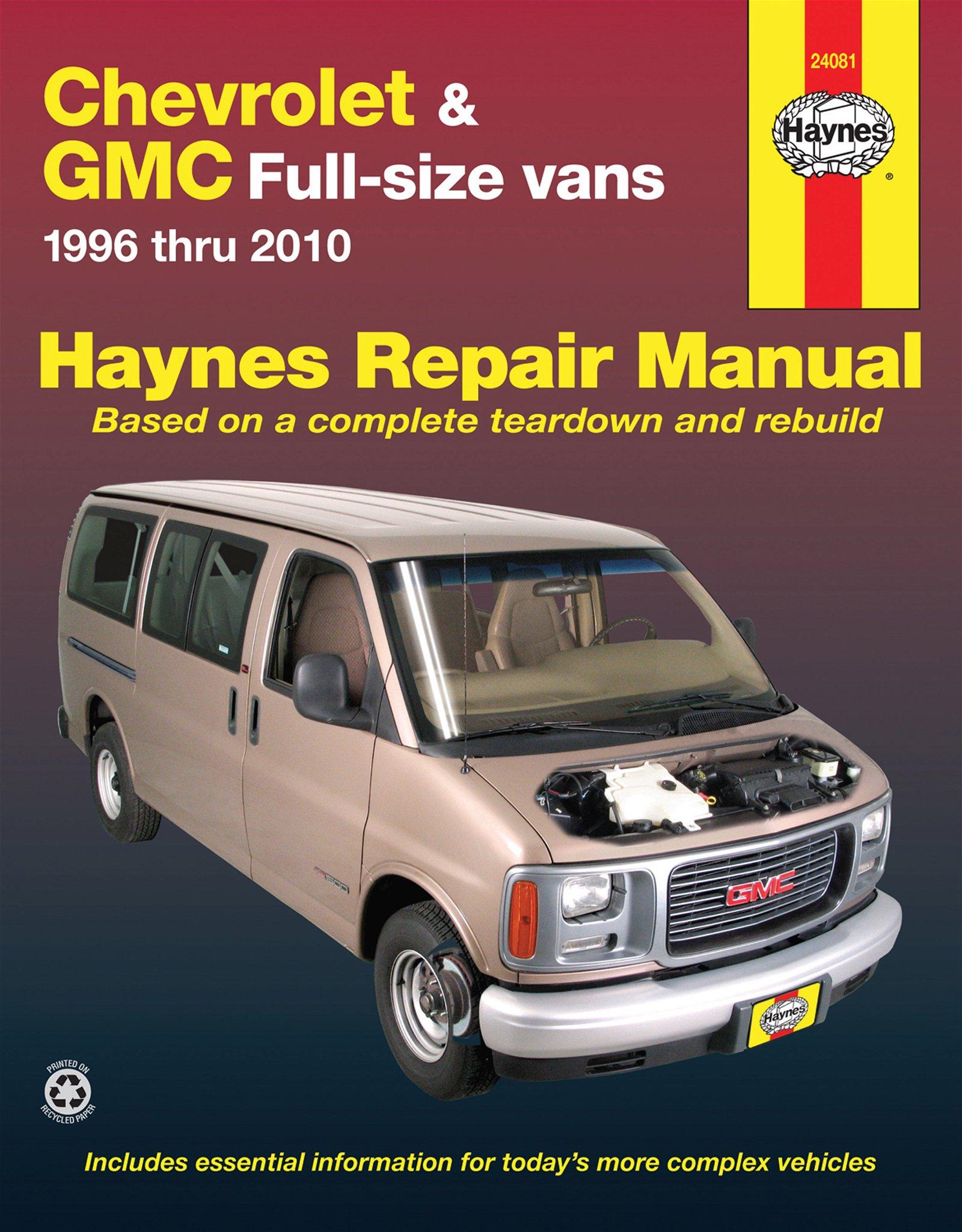 [Manuel US en Anglais] Chevrolet & GMC Full-size Vans,  '96 -  '10