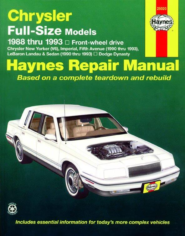 [Manuel US en Anglais] Chrysler Full-Size (FWD)  '88 -  '93