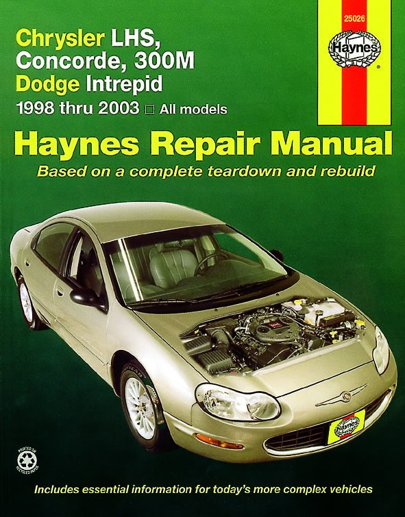 [Manuel US en Anglais] Chrysler LHS, Concorde, 300M  & Dodge Intrepid,  '98 -  '04