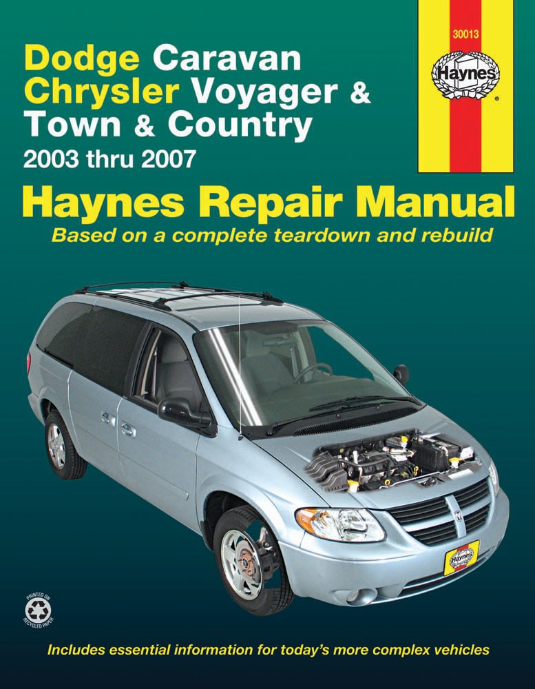 [Manuel US en Anglais] Dodge Caravan, Chrysler Voyager & Town & Country  '03 -  '07
