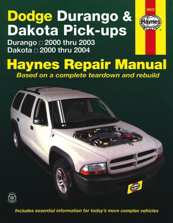 [Manuel US en Anglais] Dodge Durango  '00 -  '03 & Dakota Pick-ups  '00 -  '04