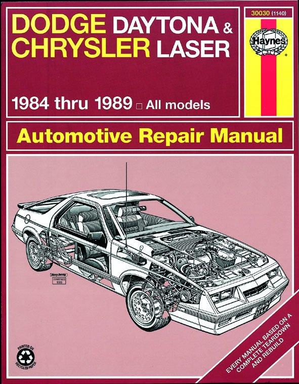 [Manuel US en Anglais] Dodge Daytona & Chrysler Laser  '84 -  '89