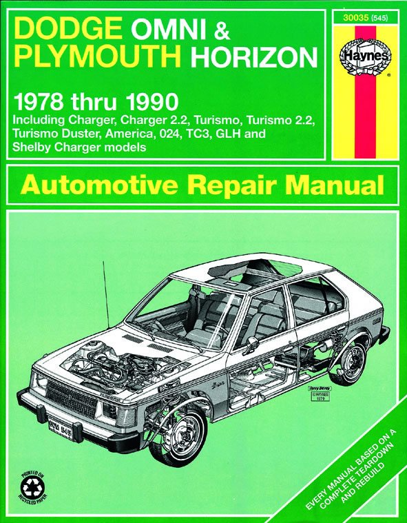 [Manuel US en Anglais] Dodge Omni/Plymouth Horizon  '78 -  '90