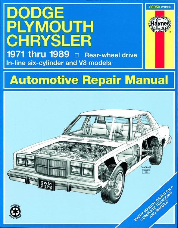 [Manuel US en Anglais] Dodge/Plymouth/Chrysler Full-Size (RWD)  '71-'89