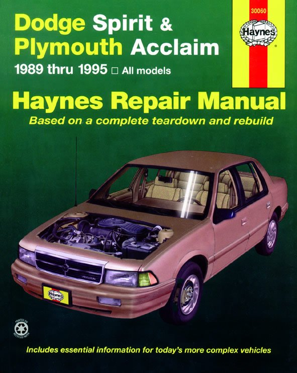 [Manuel US en Anglais] Dodge Spirit & Plymouth Acclaim  '89 -  '95