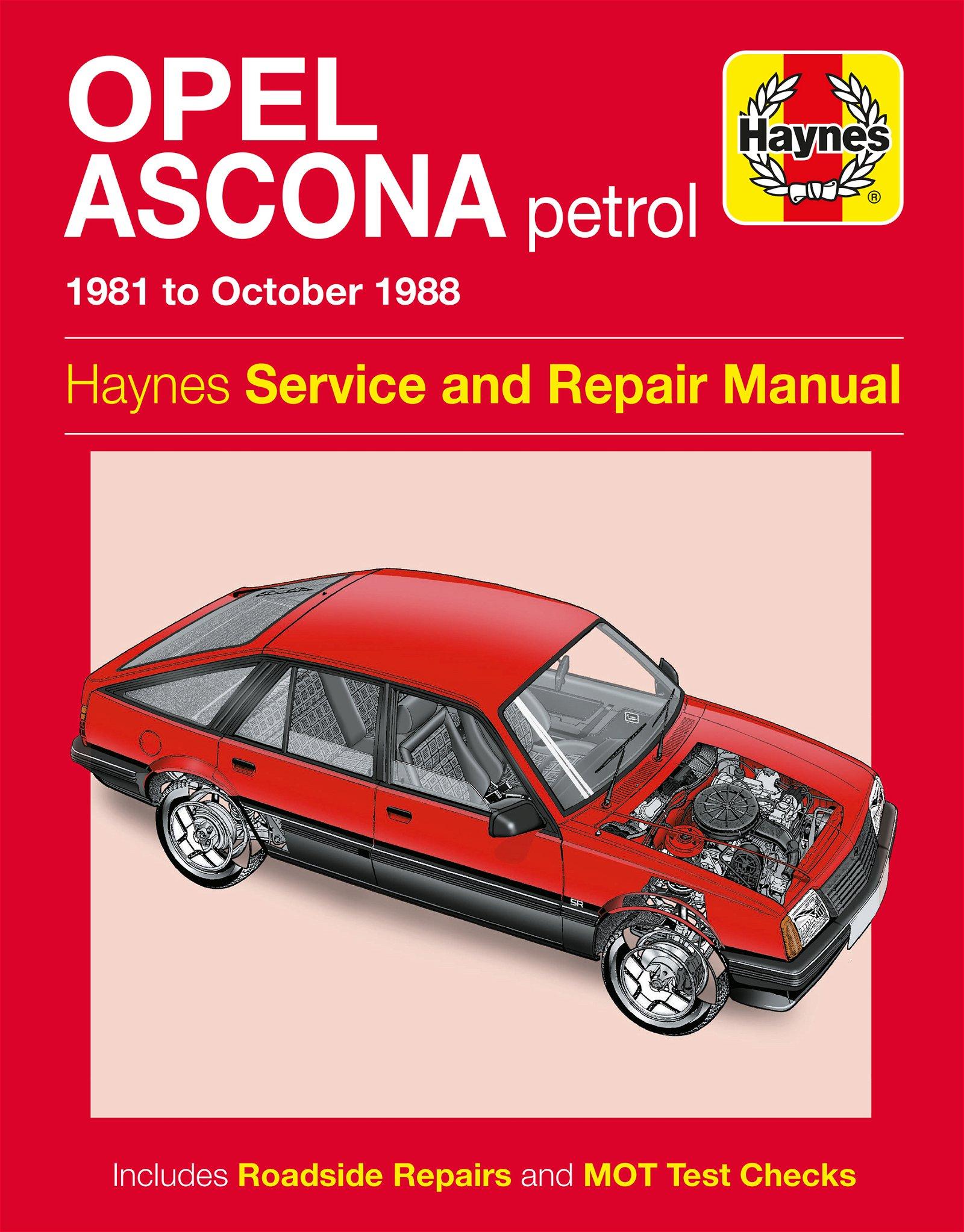 [Manuel UK en Anglais] Opel Ascona Petrol  (81 - 88)