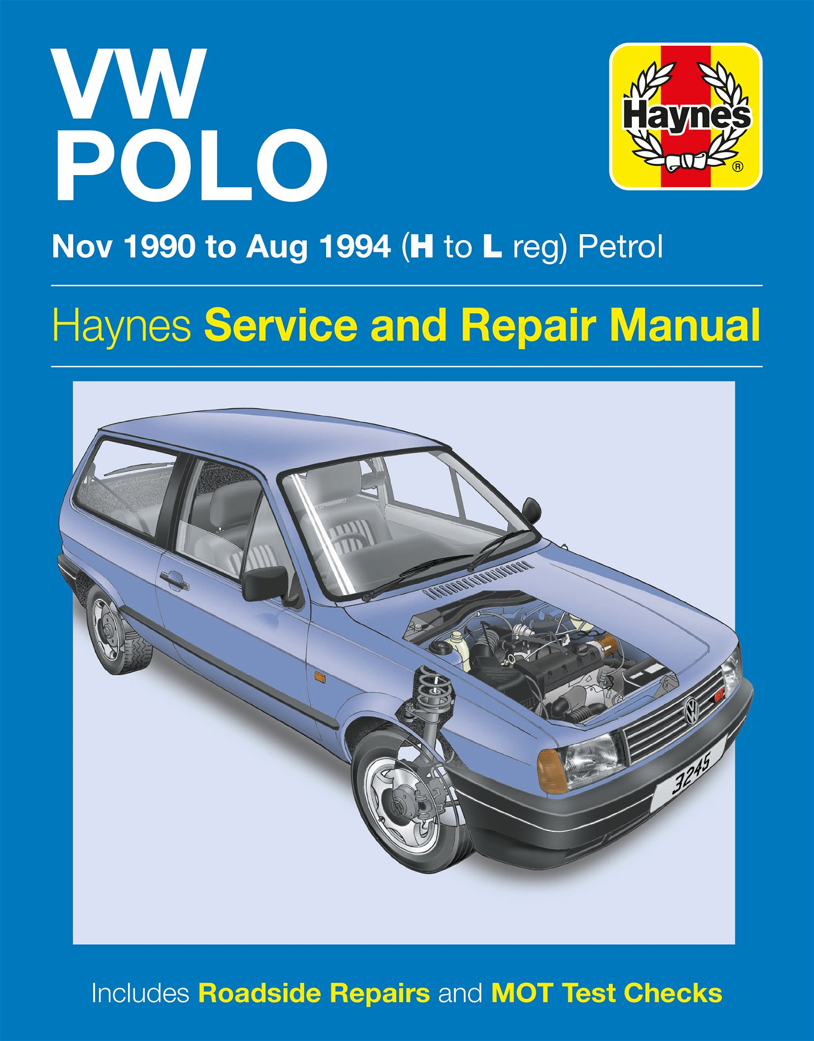 [Manuel UK en Anglais] VW Polo Petrol  (Nov 90 - Aug 94)  H to L