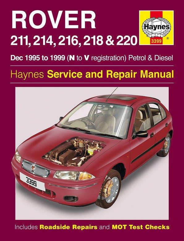 [Manuel UK en Anglais] Rover 211, 214, 216, 218 & 220 Petrol & Diesel  (Dec 95 - 99)  N to V
