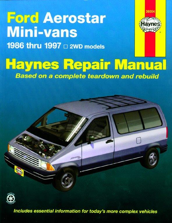 [Manuel US en Anglais] Ford Aerostar Mini Van  '86 -  '97