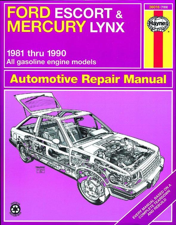 [Manuel US en Anglais] Ford Escort & Mercury Lynx  '81 -  '90