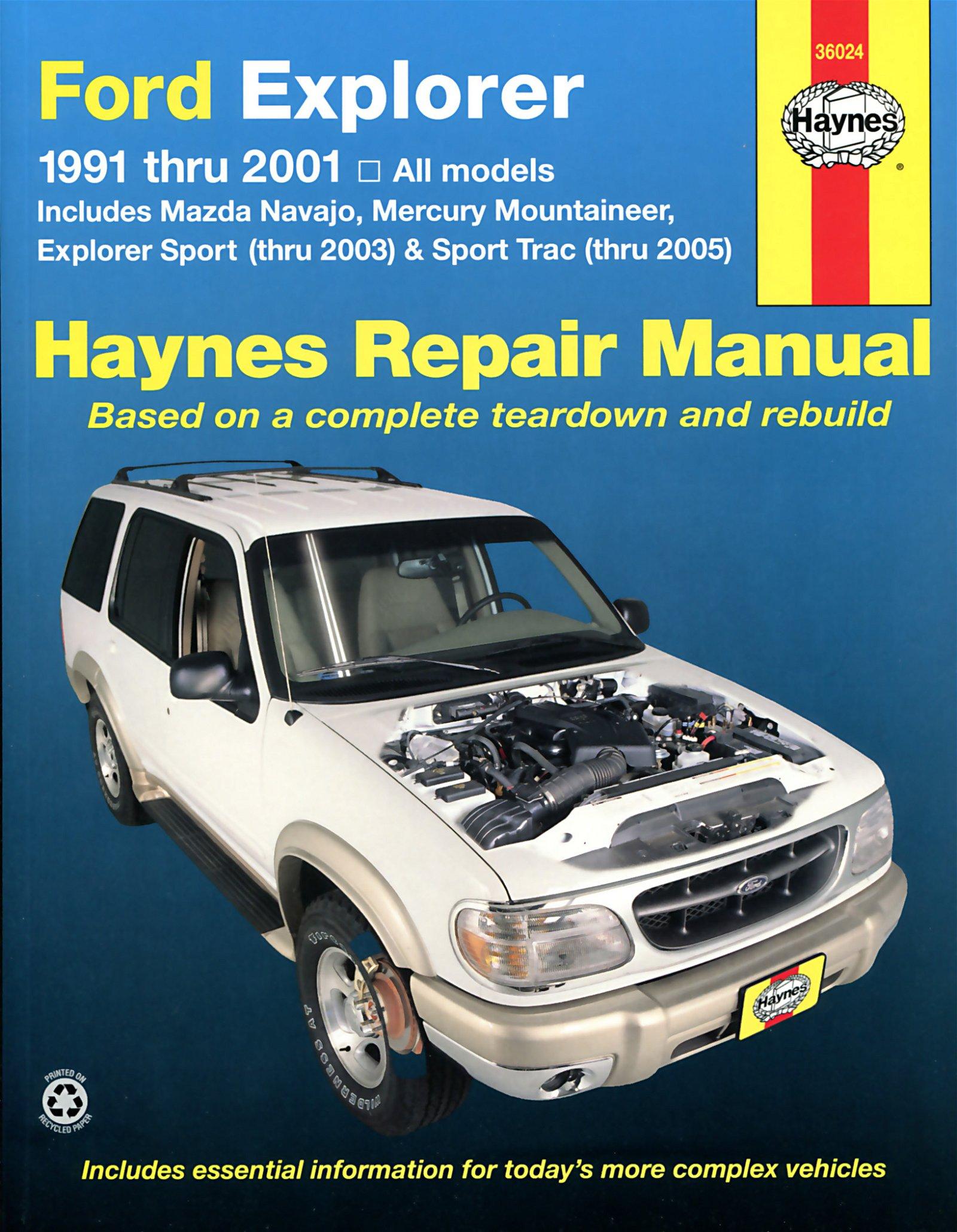 [Manuel US en Anglais] Ford Explorer  '91 -  '01, Explorer Sport thru  '03, Sport Trac thru  '05