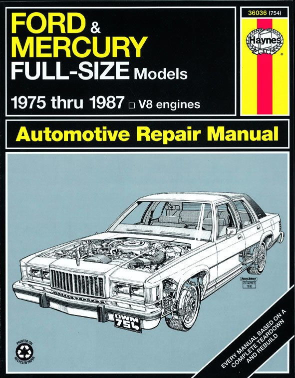 [Manuel US en Anglais] Ford & Mercury Full-Size Sedans  '75 -  '87