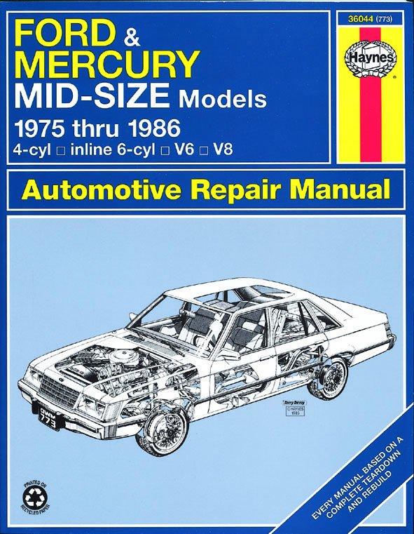 [Manuel US en Anglais] Ford & Mercury Mid-Size Sedans  '75 -  '86