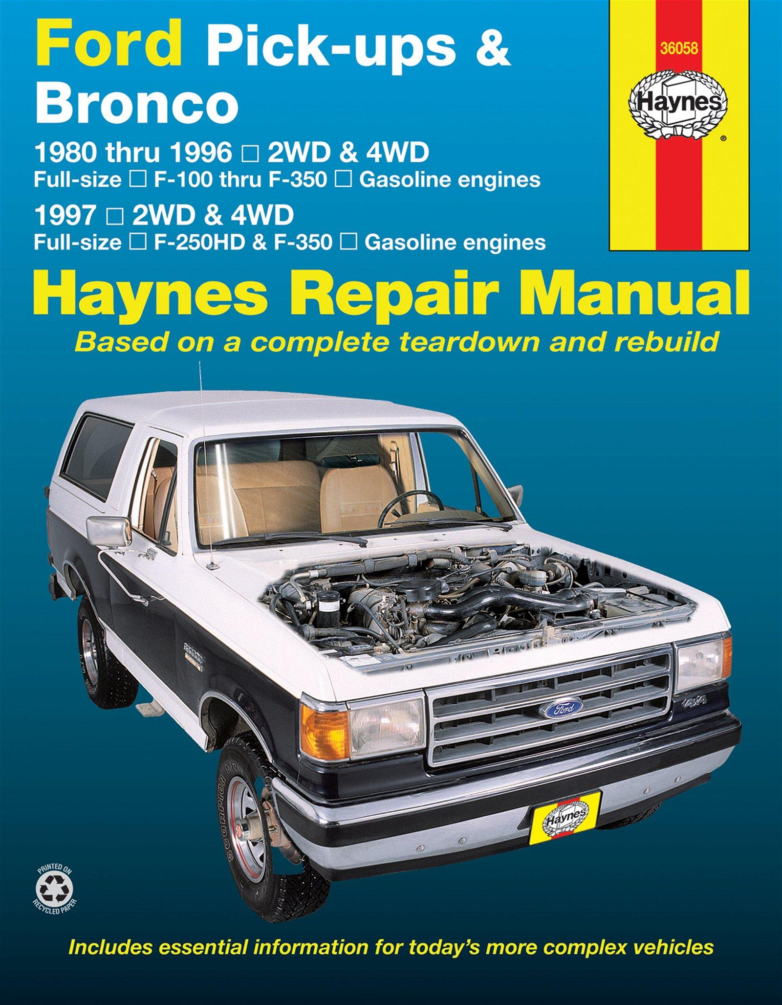 [Manuel US en Anglais] Ford Pick-ups & Bronco  '80 -  '96