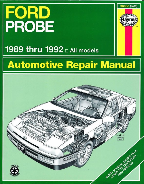 [Manuel US en Anglais] Ford Probe  '89 -  '92