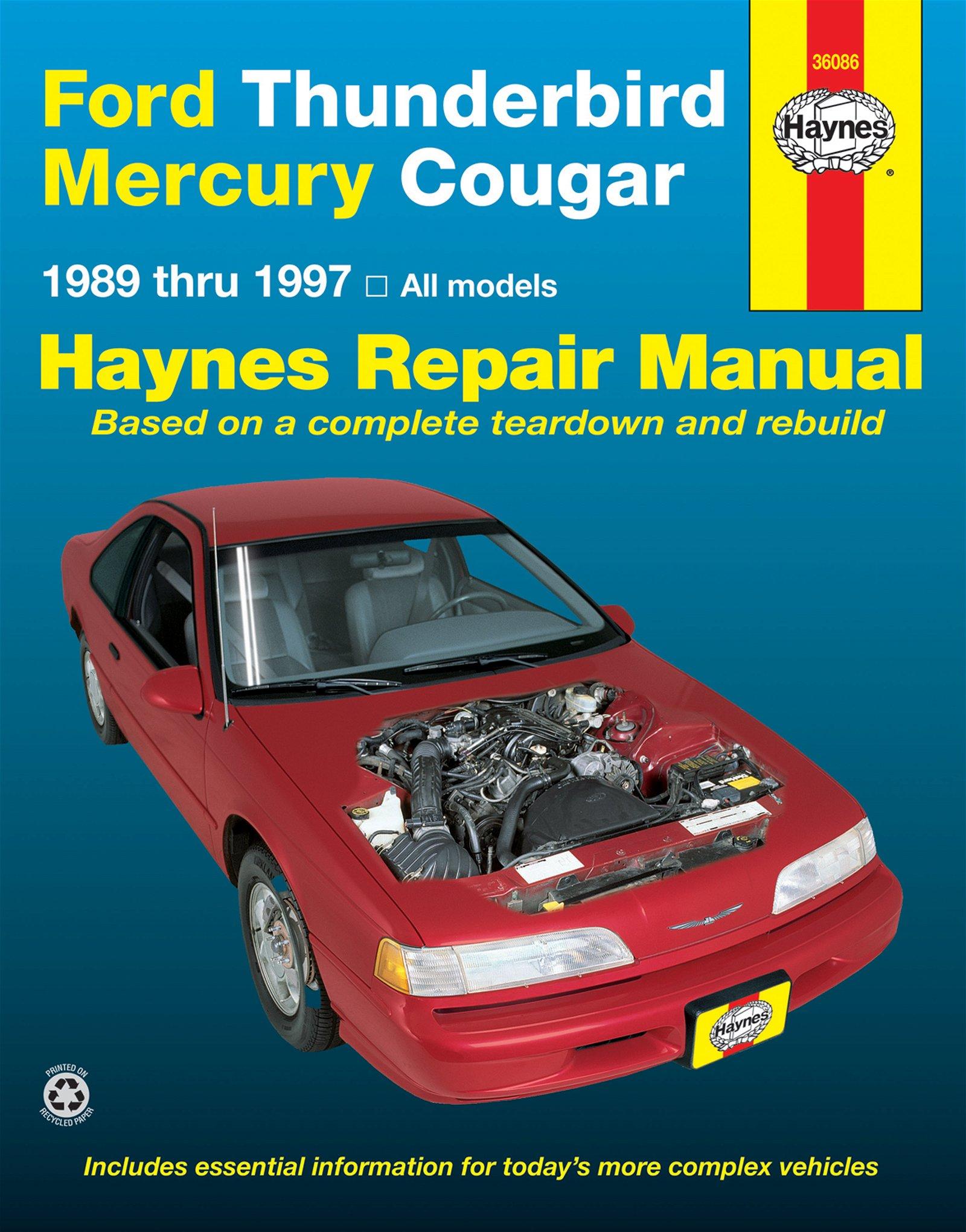 [Manuel US en Anglais] Ford Thunderbird & Mercury Cougar  '89 -  '97