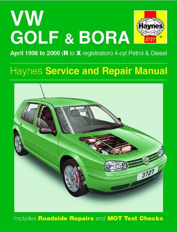 [Manuel UK en Anglais] VW Golf & Bora Petrol & Diesel  (April 98 - 00)  R to X