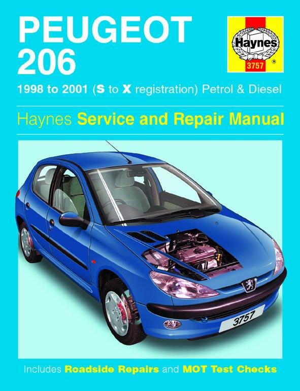[Manuel UK en Anglais] Peugeot 206 Petrol & Diesel  (98 - 01)  S to X