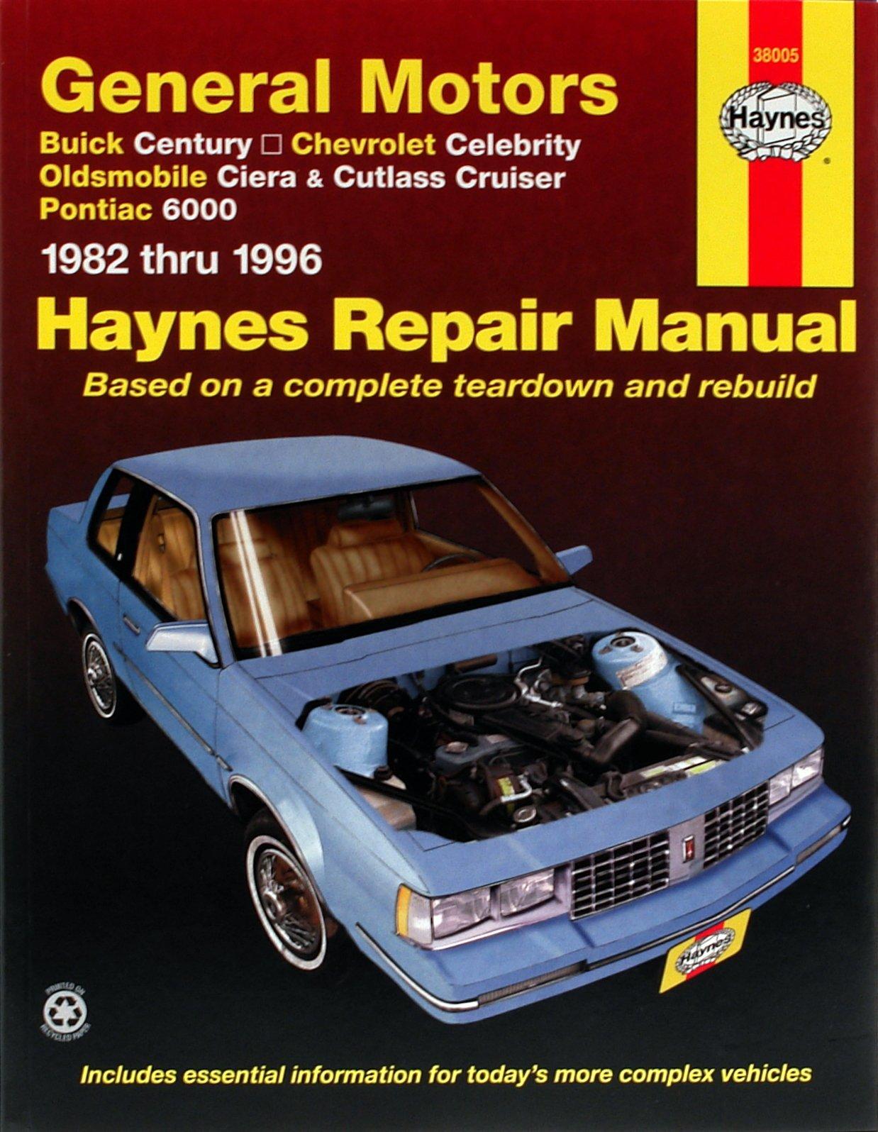 [Manuel US en Anglais] GM: Century, Celebrity, Ciera, Cutlass Cruiser, 6000  '82 -  '96