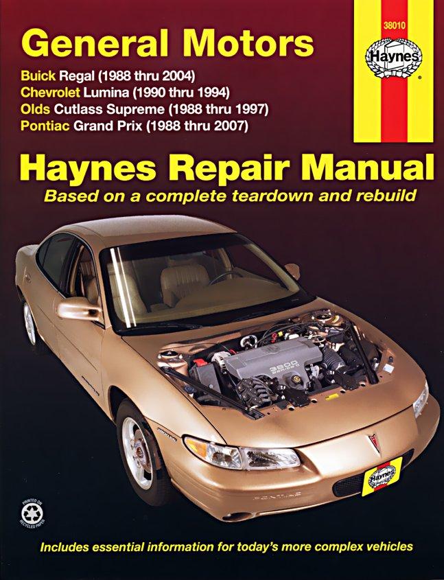 [Manuel US en Anglais] GM: Buick Regal, Chevrolet Lumina, Oldsmobile Cutlass Supreme, Pontiac Grand Prix,  '88 -  '07