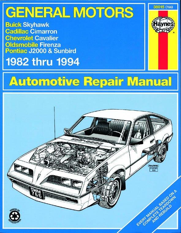 [Manuel US en Anglais] GM: Skyhawk, Cimarron, Cavalier, Firenza, J-2000, Sunbird  '82 -  '94