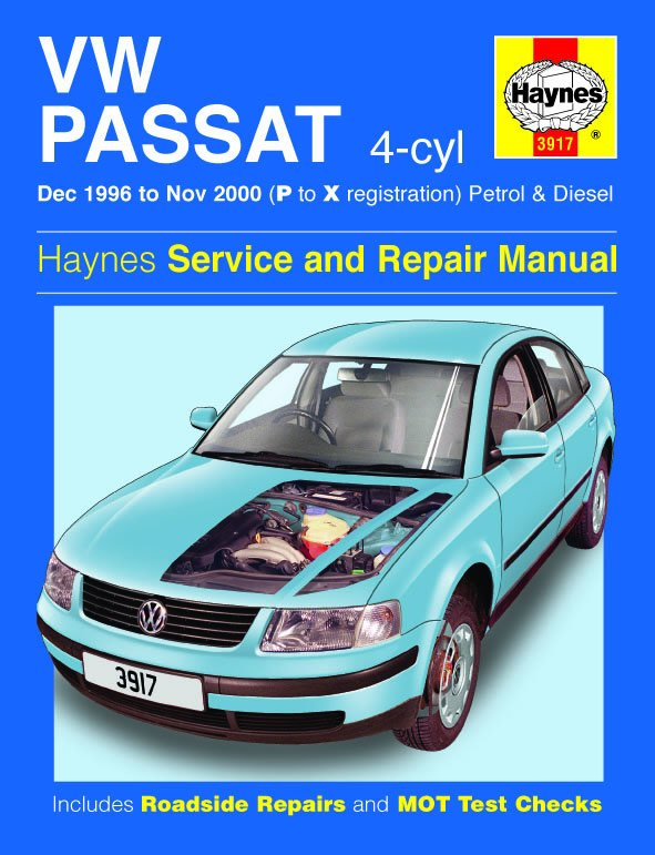 [Manuel UK en Anglais] VW Passat 4-cyl Petrol & Diesel  (Dec 96 - Nov 00)  P to X