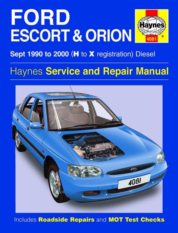 [Manuel UK en Anglais] Ford Escort & Orion Diesel  (Sept 90 - 00)  H to X