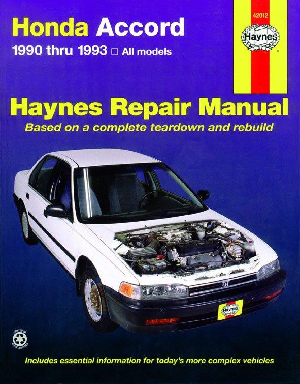 [Manuel US en Anglais] Honda Accord  '90 -  '93
