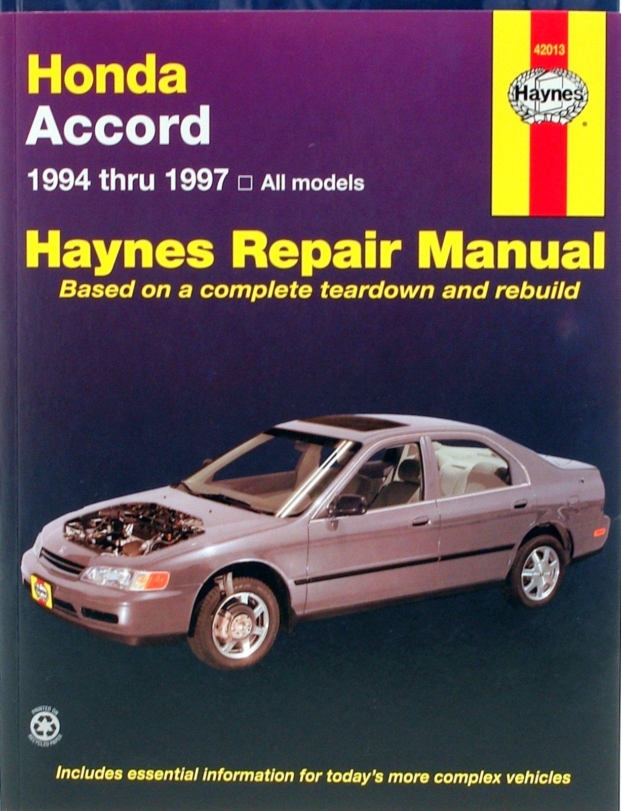 [Manuel US en Anglais] Honda Accord  '94 -  '97