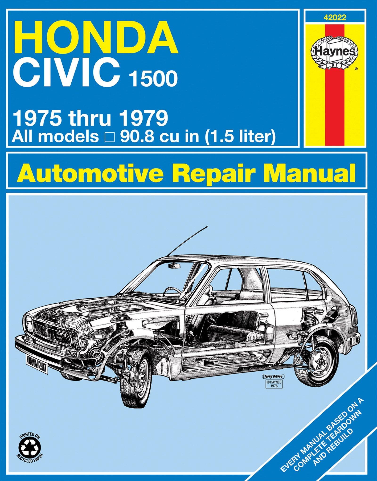 [Manuel US en Anglais] Honda Civic 1500 CVCC  '75 -  '79