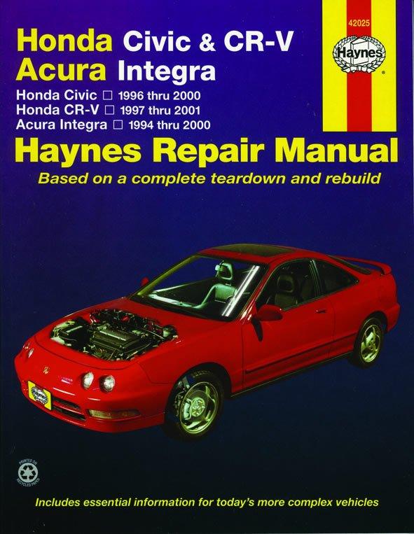 [Manuel US en Anglais] Honda Civic  '96 -  '00, CR-V  '97 -  '01 & Acura Integra  '94 -  '00