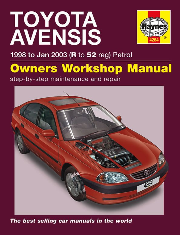 [Manuel UK en Anglais] Toyota Avensis Petrol  (98 - Jan 03)  R to 52
