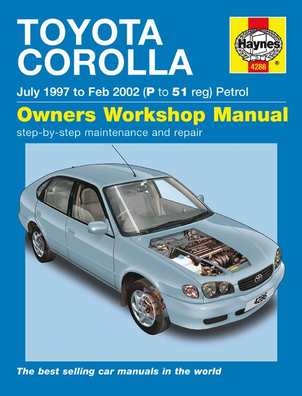 [Manuel UK en Anglais] Toyota Corolla Petrol  (July 97 - Feb 02)  P to 51