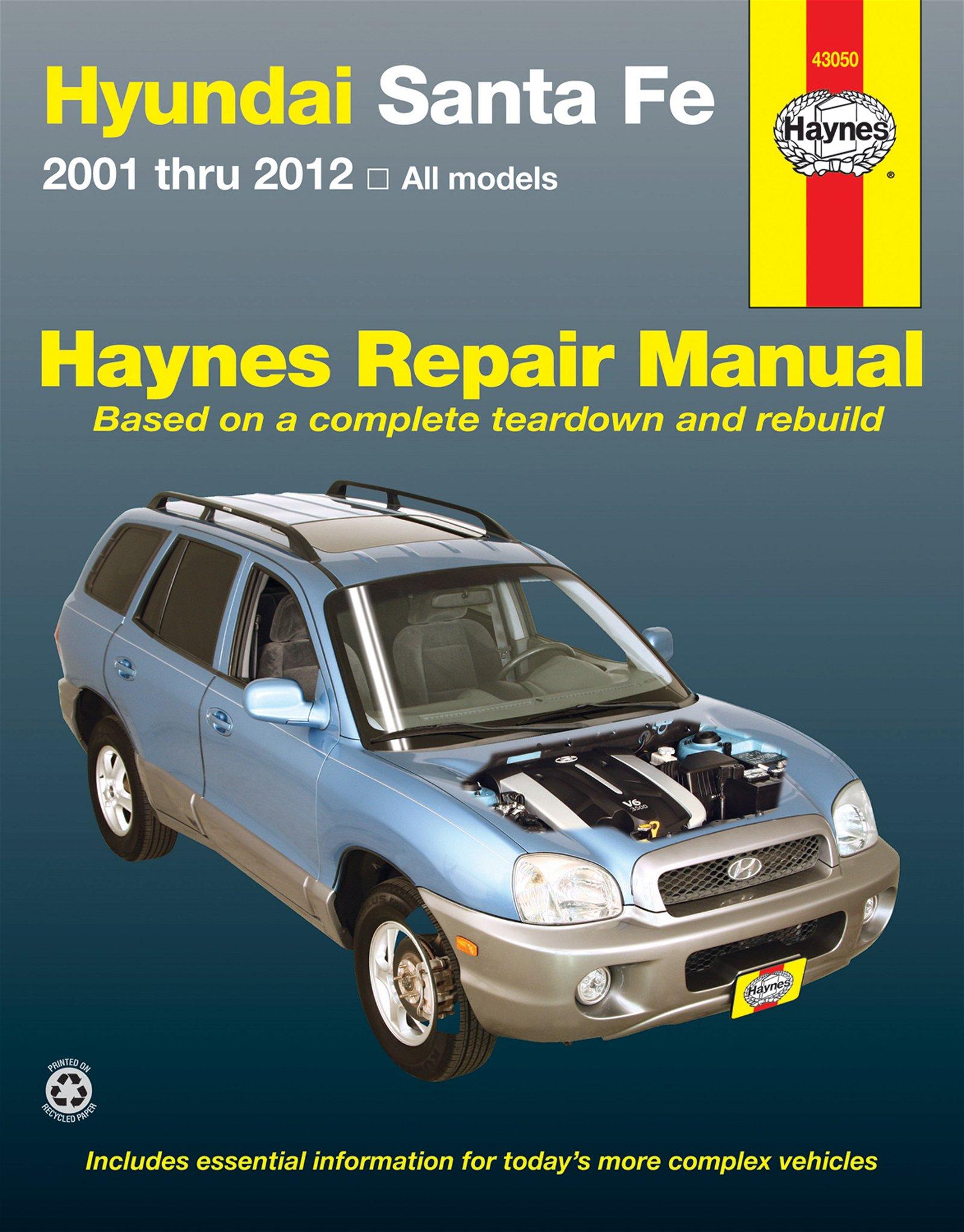 [Manuel US en Anglais] Hyundai Santa Fe  '01 -  '12