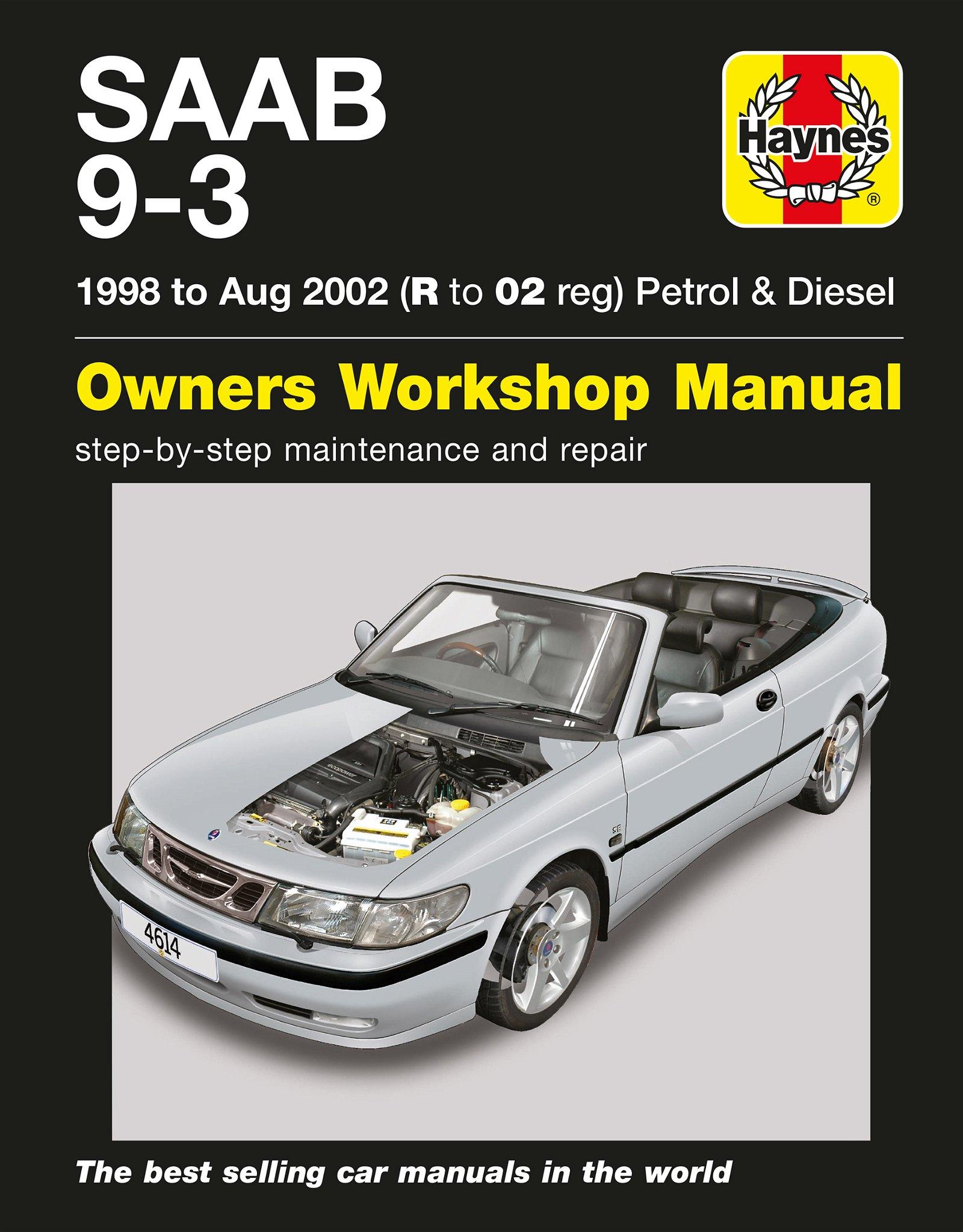 [Manuel UK en Anglais] Saab 9-3 Petrol & Diesel  (98 - Aug 02)  R to 02