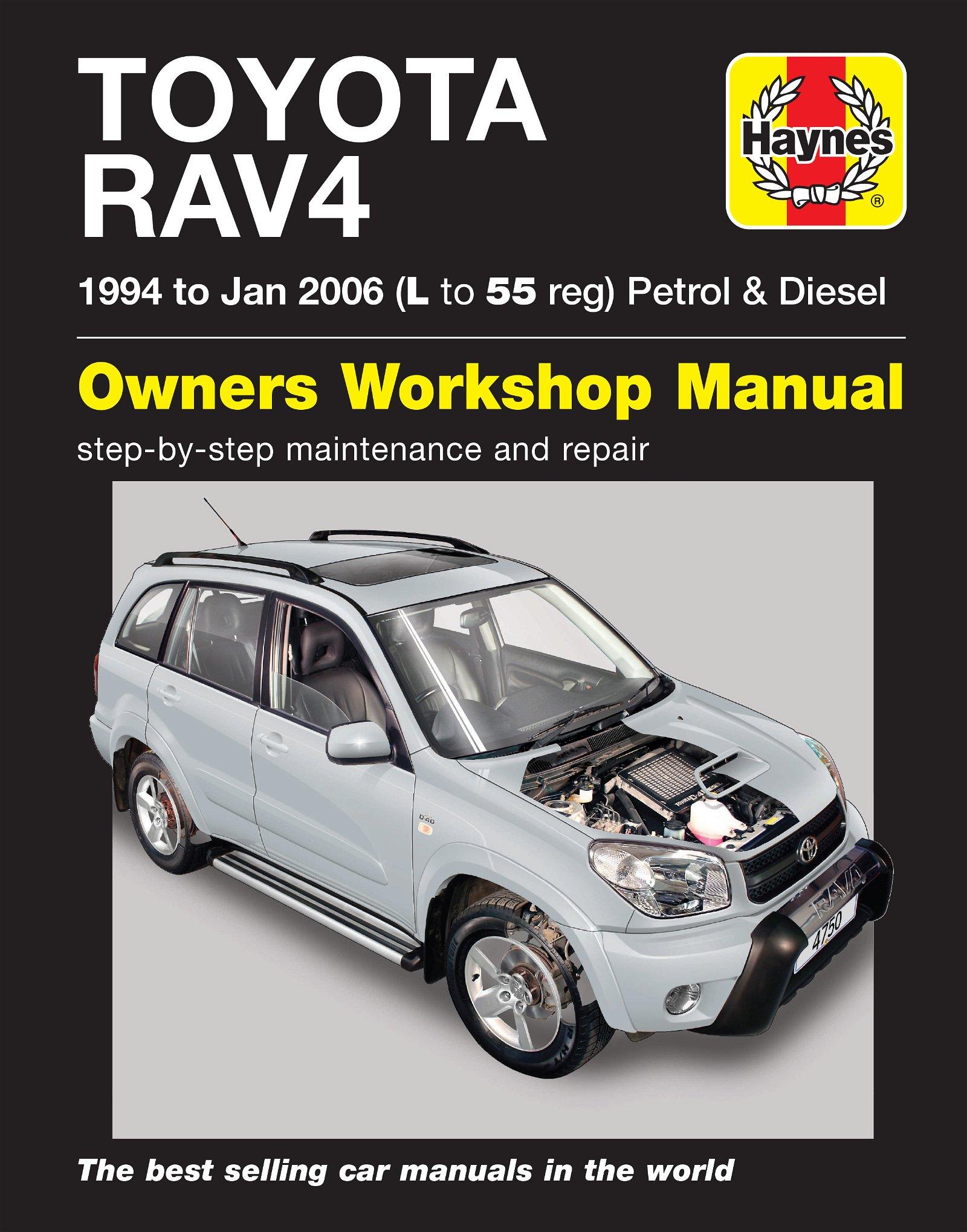 [Manuel UK en Anglais] Toyota RAV4 Petrol & Diesel  (94 - Jan 06)  L to 55