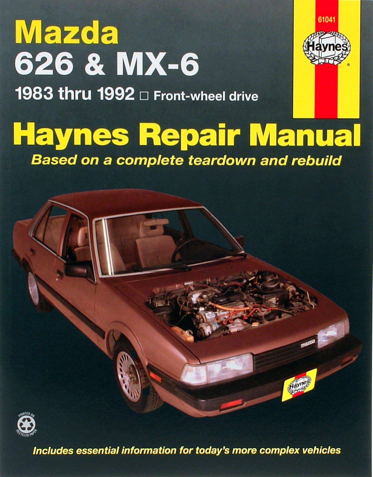 [Manuel US en Anglais] Mazda 626 & MX-6 (FWD)  '83 -  '92