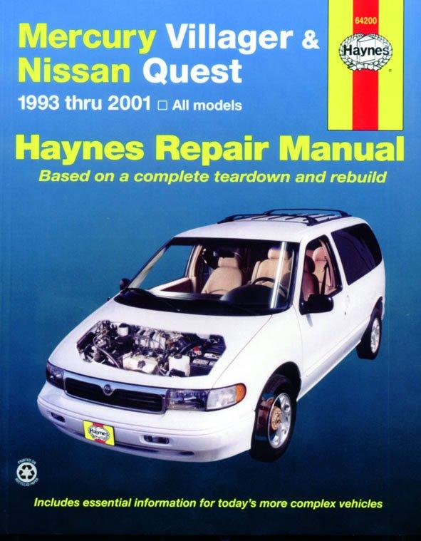 [Manuel US en Anglais] Mercury Villager & Nissan Quest  '93 -  '01