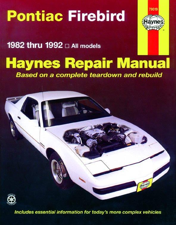 [Manuel US en Anglais] Pontiac Firebird  '82 -  '92