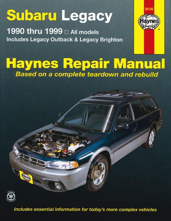 [Manuel US en Anglais] Subaru Legacy  '90 -  '99
